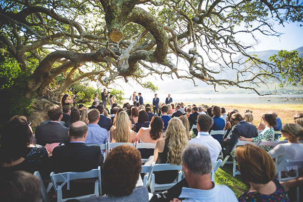 Wedding Ceremony Under The Old Tree At Mosaic Sanctuary Stanford