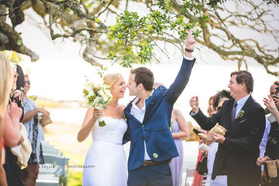 Groom Embraces His Bride At Mosaic Wedding Venue Stanford Western Cape South Africa