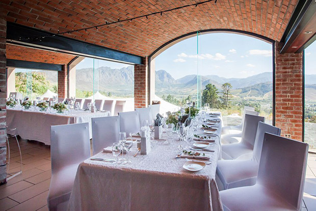 Reception Area At Roca Restaurant U Donne Estate Franschhoek Wedding Venue