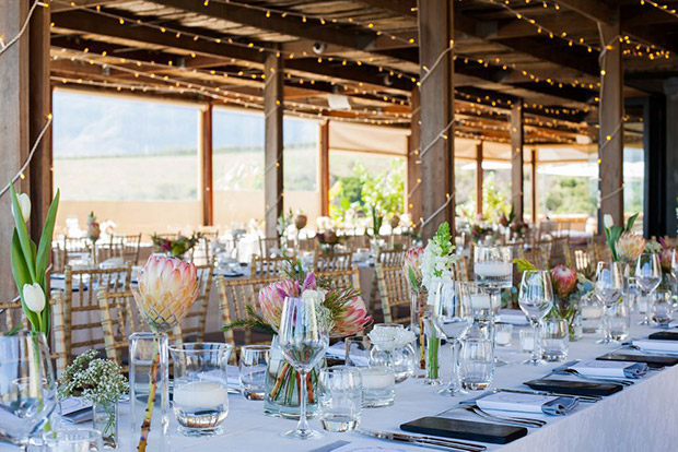 Stellenbosch Winelands Hidden Valley Wine Estate Wedding Venue Indoor Reception Setup