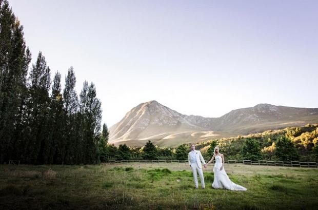 Nidderdale Farm Cape Winelands Wedding Venue Couple View