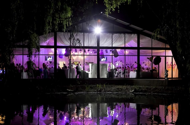 Heavens Gate Wedding Venue Glass Reception Venue Marquee Gauteng Lighting