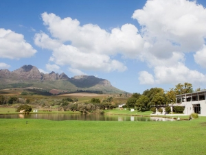 Webersburg Lake with Green Lawns Wedding Venue Stellenbosch