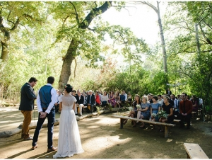 Wedding Ceremony in a Forest at De Uijlenes Rustic Farm  Forest Wedding Venue Overberg