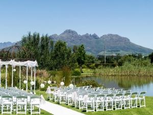 Hudsons Vredenheim Wedding Venue Cape Winelands Stellenbosch Ceremony Outdoor