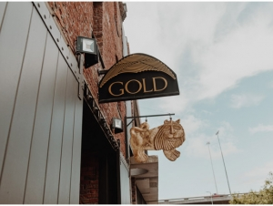 Entrance Signage at GOLD Restaurant