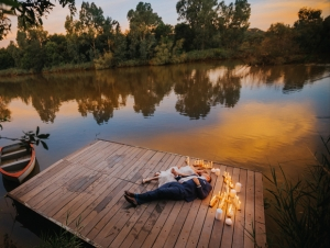The Nutcracker Gauteng Countryside Wedding Venue Couple by the Lake