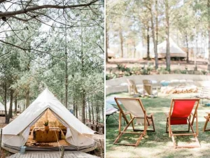 Cherry Glamping Wedding Venue Elgin Valley Tent Interior Camping Chairs